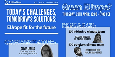 EUrope fit for the future - Panel: Green EUrope? tickets