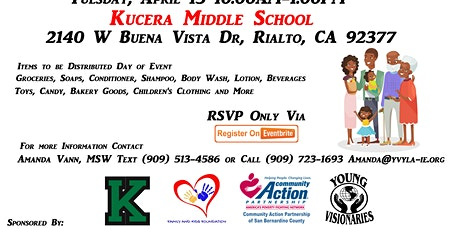 Kucera Middle School Pull Up and Pick Up Family Support Day tickets