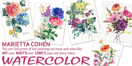 INTUITIVE WATERCOLOR PAINTING OF FLOWERS tickets