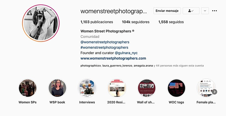 Imagen de Conferencia con  Ximena Echague / Women Street Photographers