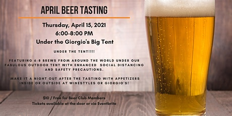 April Beer Tasting tickets