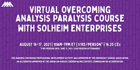 Virtual Overcoming Analysis Paralysis Course | August  2021 tickets