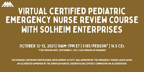 Solheim's Virtual CPEN Exam Review Course | October 2021 tickets