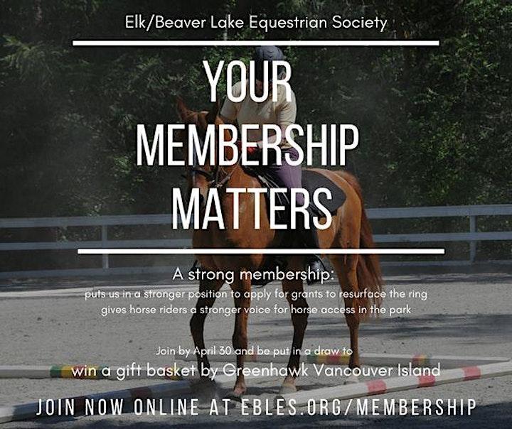 Elk/Beaver Equestrian Society Membership 2021 C image