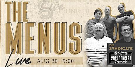 The Menus - LIVE tickets