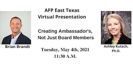 Brian Brandt & Ashley Kutach- Creating Ambassadors Not Just Board Members tickets