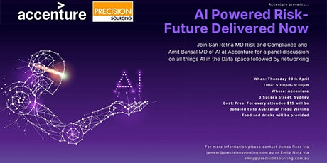 AI Powered Risk - Future Delivered Now | Sydney tickets