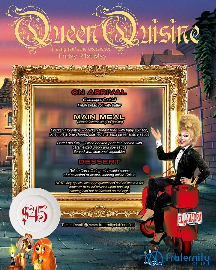 Queen Quisine, A Drag and Dine Experience image