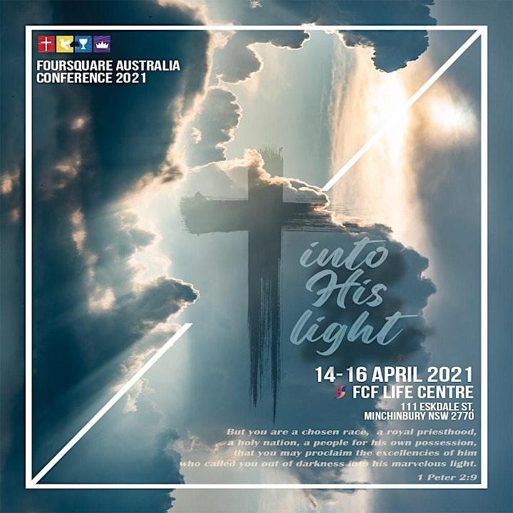 'Into His Light' Foursquare Conference Australia 2021 image
