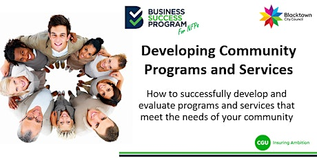 Developing Community Programs and Services tickets