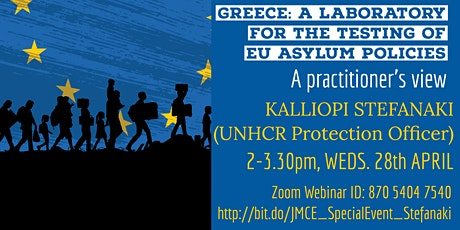 JMCE SPECIAL EVENT  - KALLIOPI STEFANAKI (UNHCR Protection Officer) tickets