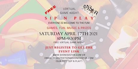 VIRTUAL Sip n Play  Game Night tickets