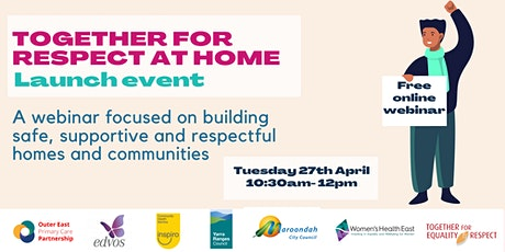 Together For Respect At Home- Launch Event tickets