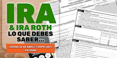 ¿Qué tipo de cuenta IRA es apropiada para usted y su familia? boletos