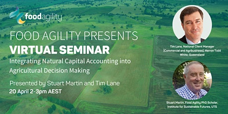 Integrating Natural Capital Accounting into Agricultural Decision Making tickets