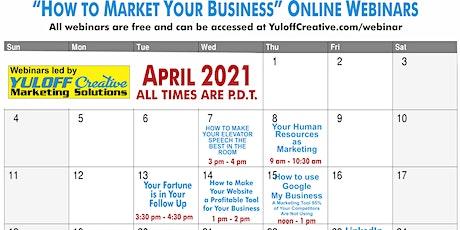 April Free Marketing Interactive Webinars tickets