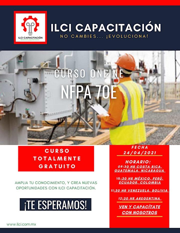 """Imagen de Curso Gratuito México """"NFPA 70E"""""""