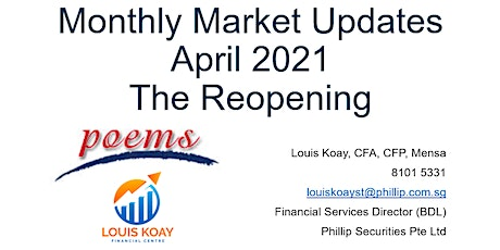 Monthly Market Updates - April 2021 - The Reopening tickets