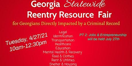 Georgia Statewide Reentry Resource Fair- Virtual tickets