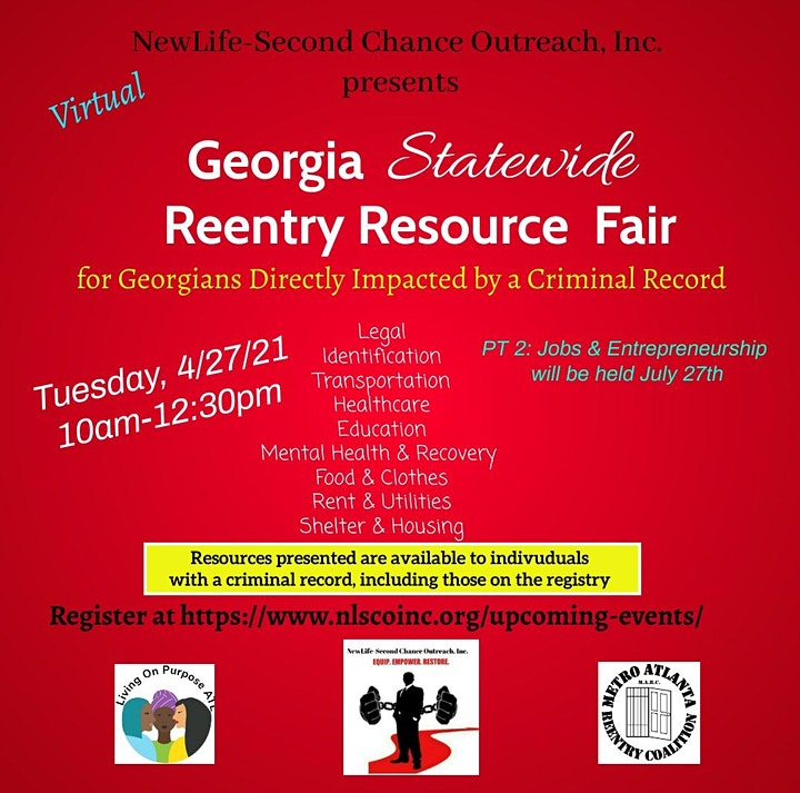 Georgia Statewide Reentry Resource Fair- Virtual image