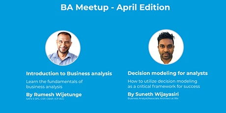BA Meetup - April Edition Tickets