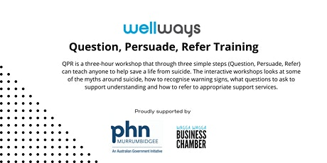 Suicide Prevention Training - Question, Persuade, Refer tickets