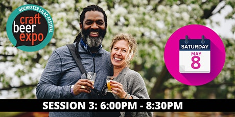 The Rochester Lilac Festival Craft Beer Expo: Saturday May 8th: Session 3 tickets
