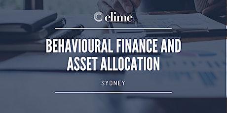 SYDNEY   Behavioural Finance and Asset Allocation tickets