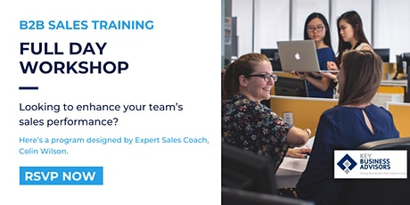 B2B Sales Training Full Day Workshop by Expert Sales Coach, Colin Wilson. tickets