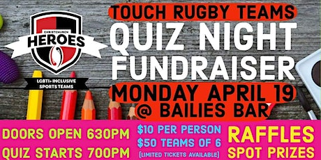 Touch Rugby Quiz Fundraiser tickets