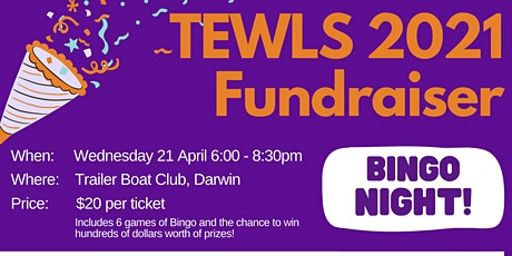 Top End Women's Legal Service 2021 Fundraiser - Bingo Night tickets