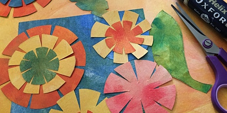 Collage and creating paper flower wreaths this Spring with Rosi Thornton tickets