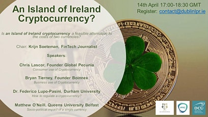 Cryptocurrency for the Island of Ireland? tickets