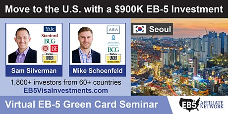 U.S. Green Card Virtual Seminar – Seoul, South Korea tickets