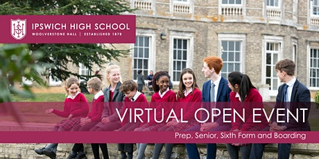 Virtual Open Morning at Ipswich High School tickets