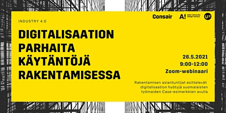 Industry4.0: digitalisaation parhaita käytäntöjä ja caseja rakentamisessa tickets