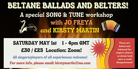 Beltane Ballads and Belters with Jo Freya and Kirsty Martin! tickets