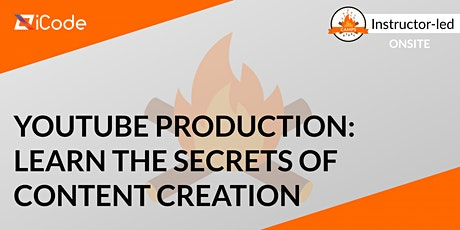 YouTube Production: Learn the Secrets of Content Creation (Ages 7-18) tickets