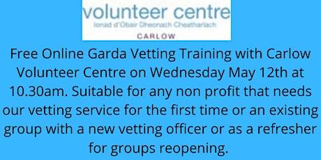 Garda Vetting Workshop with Carlow Volunteer Centre tickets