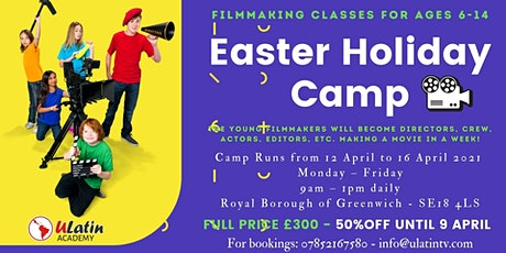 50% OFF Easter Holiday  Filmmaking Camp -  Classes for Ages 6-14 tickets