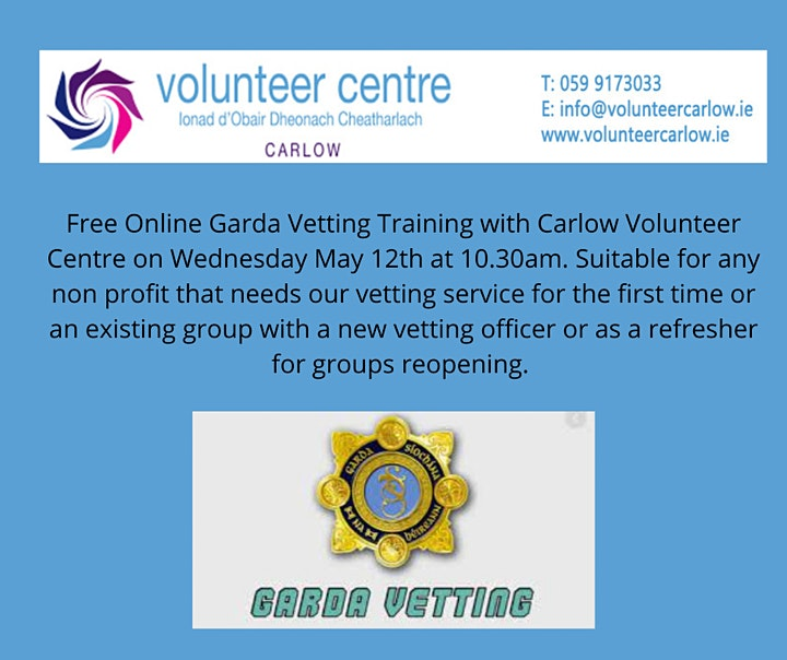 Garda Vetting Workshop with Carlow Volunteer Centre image