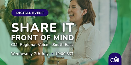 Front of Mind:  Share it tickets