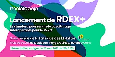 Lancement de RDEX+, standard de données de covoiturage billets