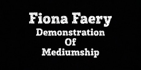 Demonstration of Mediumship - Facebook Live tickets