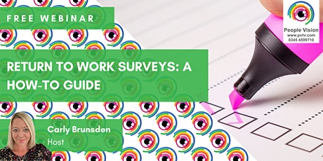 Webinar: Return-to-Work Surveys: A How-To Guide tickets