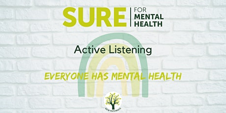 SURE for Mental Health - Active Listening (3 sessions) tickets