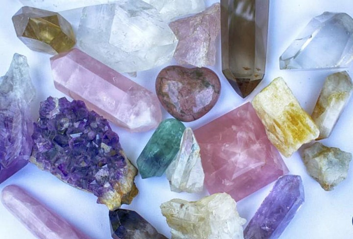 The Feminine Frequency: Vibin High  with Crystals and Essential Oils image