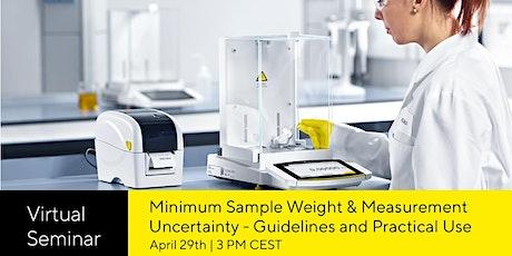 Minimum sample weight & Measurement Uncertainty tickets