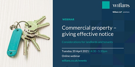 Commercial property - giving  effective notice (webinar) tickets