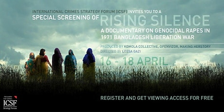 "Special 3-day online screening of documentary ""Rising Silence"" tickets"